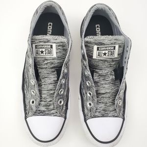 Gray slip on low top converse